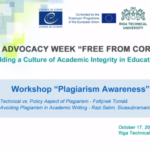 "Webinar ""Plagarism Awareness"""