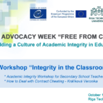 "Webinar ""Integrity in the Classroom"""