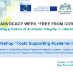 """Webinar """"Tools Supporting Academic Integrity"""""""