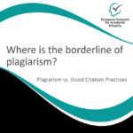 Where is the borderline of plagiarism?